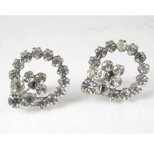 Vintage Sterling Silver Rhinestone Earrings